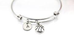 Silver Basketball Charm Bracelet, B131