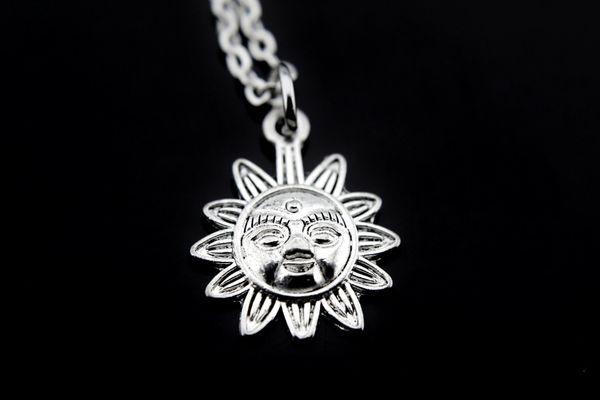 Silver Sun Charm Necklace