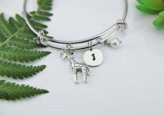 Silver Giraffe Charm Bracelet, B137