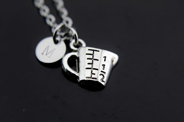 Measuring Cup Necklace Silver Measuring Cup Charm Necklace