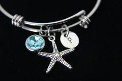 Silver Starfish Charm Bracelet, B143