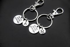 2 Best Friends Never Give Up Keychain