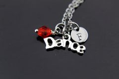 Silver Dance Charm Necklace