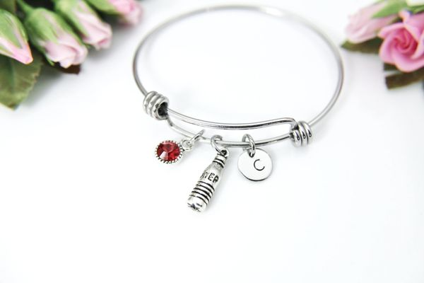 Silver Water Charm Bracelet, Personalized Bracelet, B145
