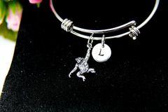 Silver Orangutan Monkey Charm Bracelet, B111