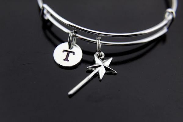 Silver Wand Charm Bracelet