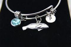 Silver Seal Charm Bracelet, B142