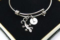 Silver Gecko Charm Bracelet, B119