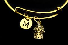 Gold Egypt King Charm Bracelet