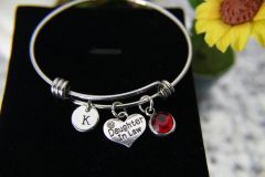 Silver Daughter in Law Charm Bracelet, B141