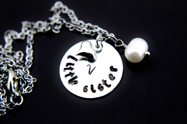 Big Sister, Middle Sister, Little Sister Charm Necklace