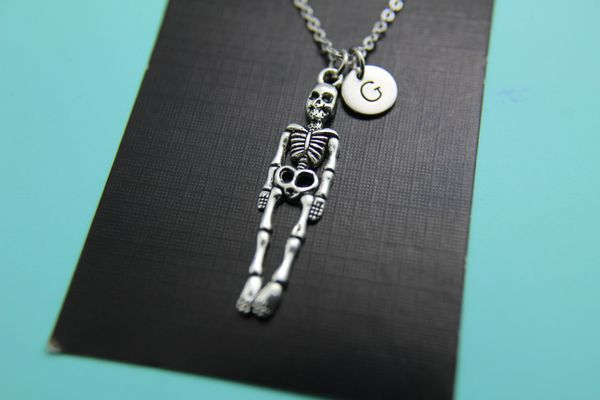 Silver Skeleton Charm Necklace