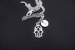 Judaica Jewelry, Hamsa Necklace, Star of David Necklace