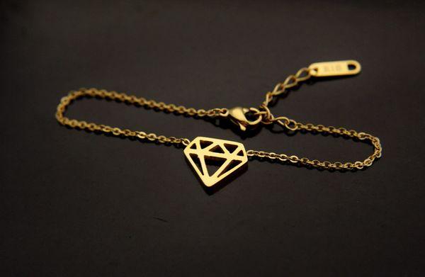 Gold Diamond Charm Bracelet