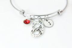 Silver Pretzel Charm Bracelet, Personalized Bracelet