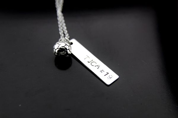 Silver Soccer Charm Necklace