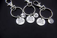 3 Best Friends Never Give Up Keychain