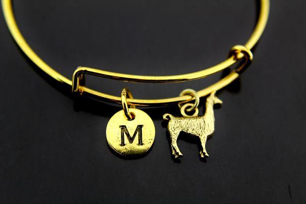 Gold Llama Charm Bracelet