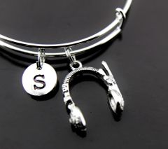Silver Headphone Charm Bracelet