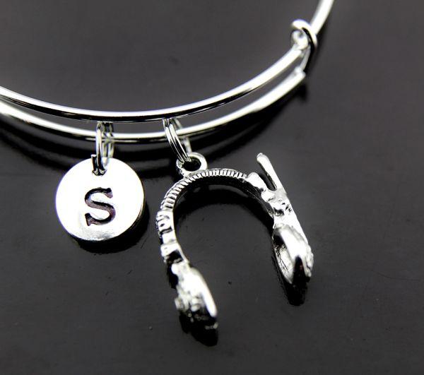 Silver Headphone Charm Bracelet