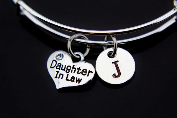 Silver Daughter in Law Charm Bracelet