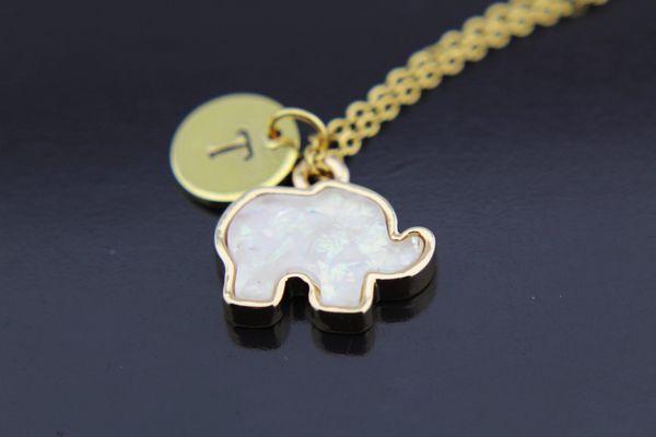 Gold Elephant Charm Necklace