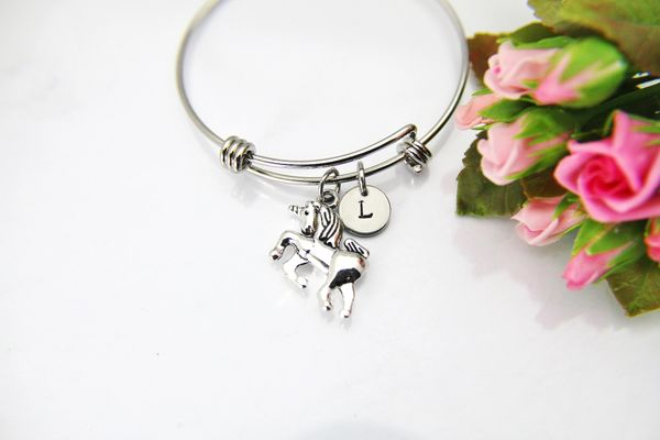 Silver Unicorn Charm Bracelet, B129