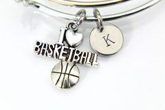 Silver Basketball Charm Bracelet, B132