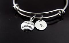 Silver Baseball Charm Bracelet, B135
