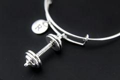 Dumbbell Bangle, Dumbbell Charm Bracelet