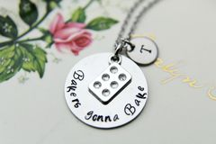 Muffin Pan Charm Necklace Bakers Gonna Bake Necklace