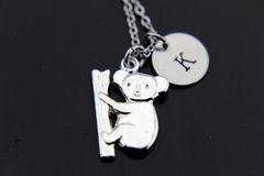 Silver Koala Charm Necklace