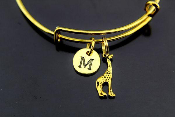 Gold Giraffe Charm Bracelet