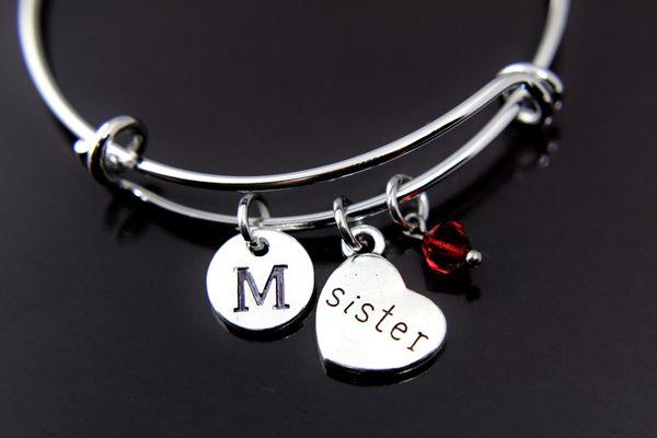 Sister Bracelet Sister Charm Bracelet Personalized Bangle