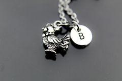 Chicken Hen Necklace, Silver Chicken Hen Charm Necklaces
