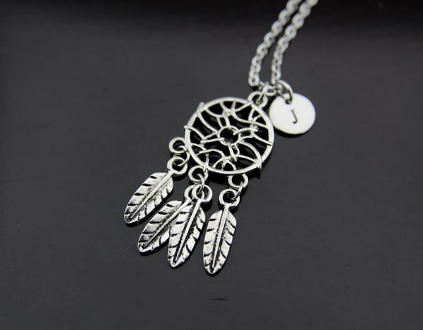 Silver Dreamcatcher Charm Necklace