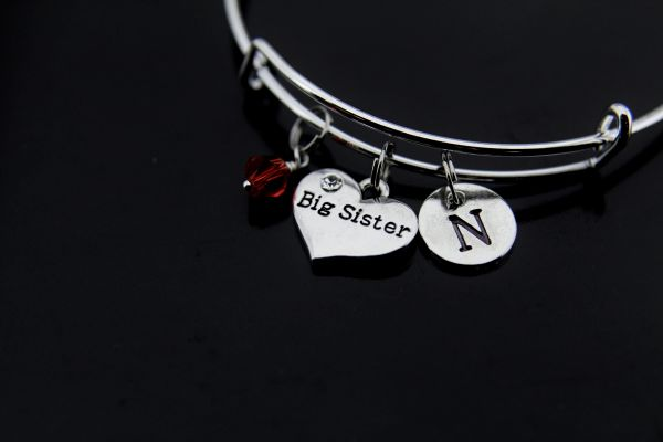 Big Sister Bracelet Sister Charm Bracelet Personalized Bangle