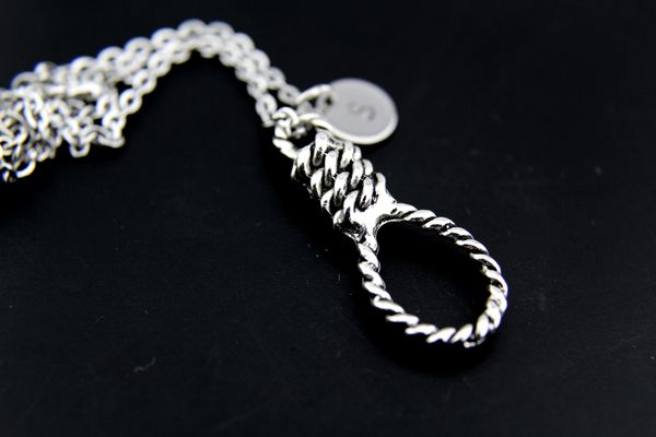 Silver Hangman's Noose Charm Necklace