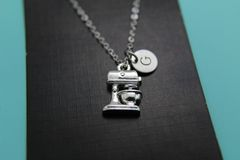 Silver Kitchen Mixer Charm Necklace