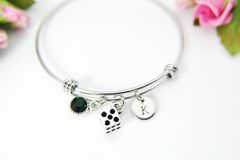 Silver Dice Charm Bracelet, Personalized Bracelet