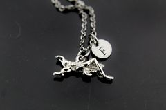 Grasshopper Necklace, Silver Grasshopper Charm Necklaces, Personalized Necklace