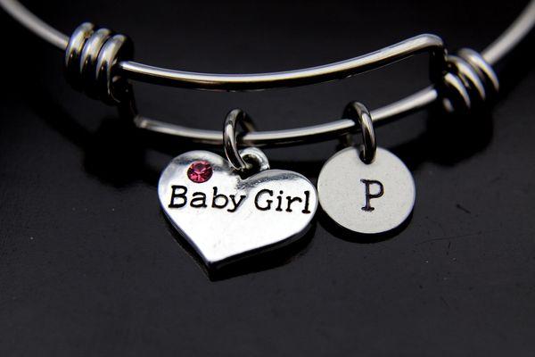 Silver Baby Girl Charm Bracelet, B125