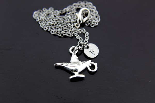 Magic Lamp Necklace, Personalized Necklace