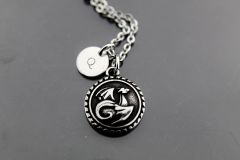 Dragon Necklace, Silver Dragon Charm Necklaces, Personalized Necklace