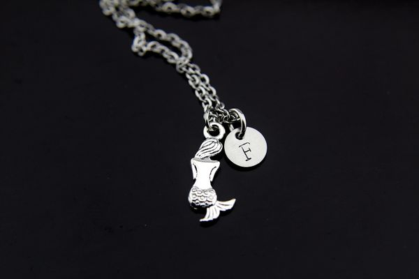 Silver Mermaid Charm Necklace