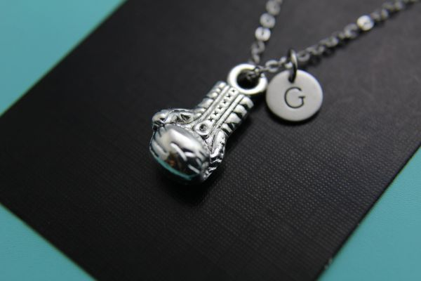 Silver Boxing Glove Charm Necklace