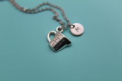 Silver Measuring Cap Charm Necklace