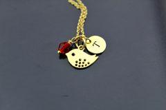 Sparrow Charm Necklace, Gold Tree Sparrow Bird Charm Necklace, Personalized Necklace