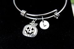 Silver Jack O Lantern Charm Bracelet, B114