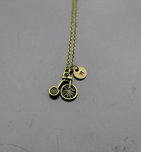 Bicycle Charm Necklace Tricycle Charm Necklace